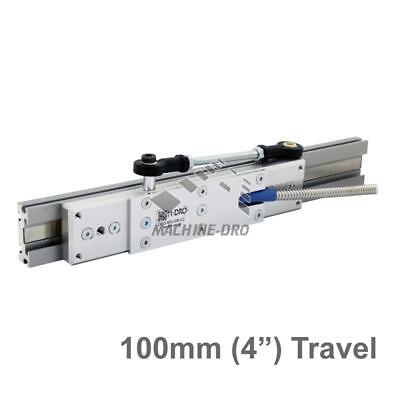 """100mm (4"""") Guided Carriage and Linear Rail for M-DRO Magnetic Encoders"""