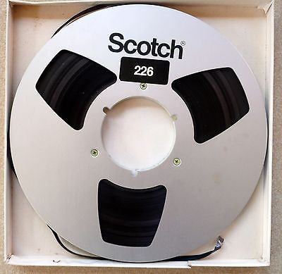 "1 x SCOTCH Vintage 10.5""  NAB Reel-to-Reel TAPE with box"
