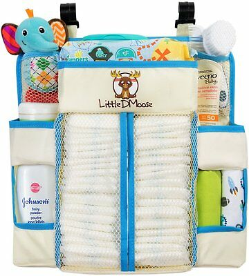 Little DMoose Baby Nursery Organizer and Diaper Caddy with Plastic Back Support