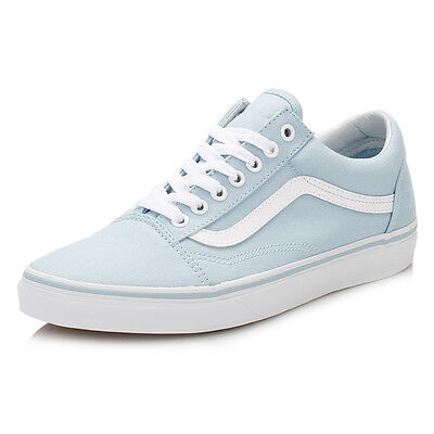 Vans Womens Crystal Blue Old Skool Trainers Running Gym Sports Shoes Casual
