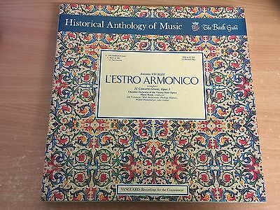The Bach Guild Historical Anthology Of Music Vivaldi 3 X Lp Record Box Set Ddl