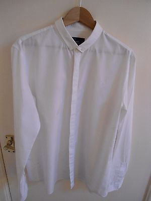 Fred Perry Dress Shirt, White, Size Large Slim Fit, Mint Condition