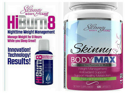 Skinny Body Max + HiBurn8 Combo Weight loss pills by Skinny Fiber .