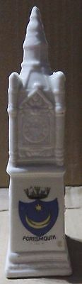 Crested China Clock Tower - Portsmouth Crest (C6)