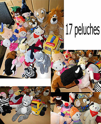 lot de peluches - 17 grosses  peluches diverses