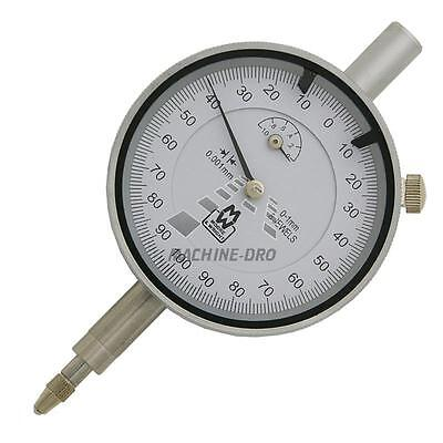 0-1mm High Res Moore & Wright Dial Gauge 1 Micron / 0.001mm  Indicator MW400-02