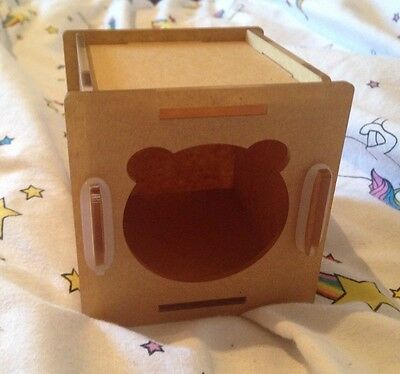 Small Wooden Hamster House For Dwarf Hamsters Mouse Bed Box Small Animal Animals