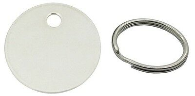 Nickel Key Pet Dog Tag - 20 25 or 30mm - Available with 20mm Split Rings