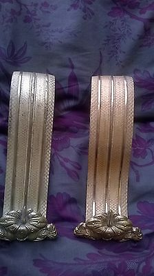 Antique French brass chateau curtain tie backs reclaimed salvage