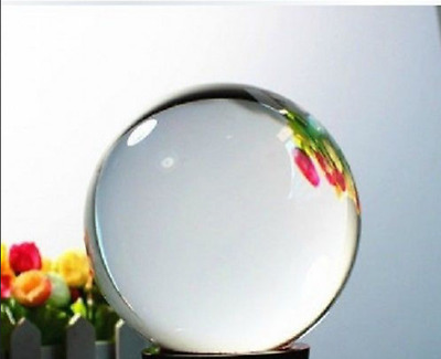 Asian Rare Natural Quartz Clear Magic Crystal Healing Ball Sphere 40mm+Stand D3