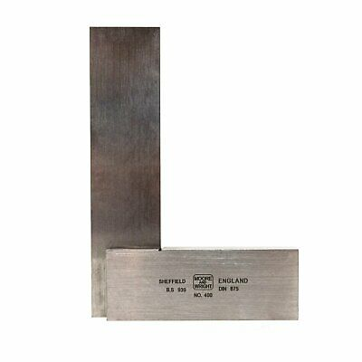 Engineers Square 100mm/ 4  Precision Ground Steel Set Square Moore and Wright