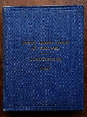 United Grand Lodge of England, Constitutions (1940 HB Book) Freemasons