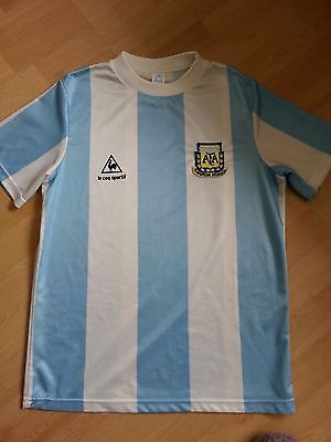 Vintage/Retro Argentina Home Shirt 1986 - Le Coq Sportiff - Adidas - Size Small