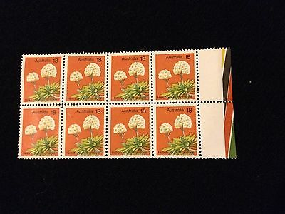 Bargain MNH 1975 Helichrysum thomsonii 18c stamps - Block of 8 - No Marks