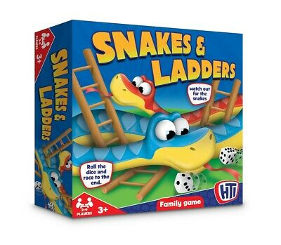 Traditional Snakes and Ladders Childrens Board Game Classic Kids Family Gift