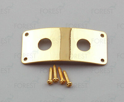 Rickenbacker® aftermarket dual jack plate, HJ006, Gold with screws