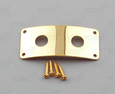 Rickenbacker ® aftermarket dual jack plate, HJ006, Gold with screws