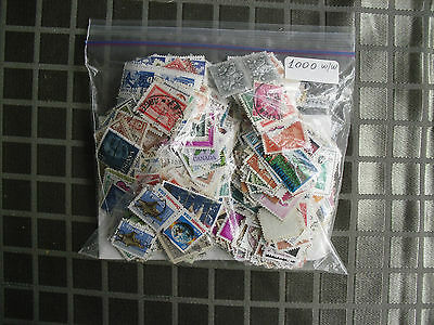 STAMPS Lot bag 1000 worldwide off paper many countries