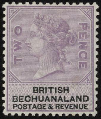 Bechuanaland SG 11a 1888 2d pale dull lilac and black, fresh