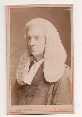 Vintage CDV Sir Thomas Chitty, 1st Baronet  British judge, barrister, Scholar