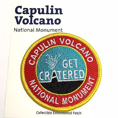 Capulin Volcano National Monument Souvenir Patch New Mexico Park Get Cratered