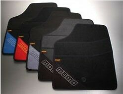 """MOMO UNIVERSAL FLOOR MATS T1000 TYPE """"A"""" black and red"""