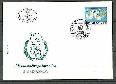 YUGOSLAVIA 1172 1986 -The International Year of Peace FDC