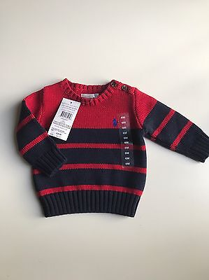 BNWT Authentic Ralph Lauren Baby Boys Knitted Jumper. Size 3 M , 6 M