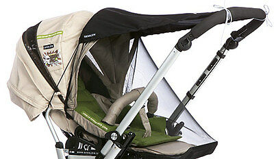 Gesslein Pram or Pushchair Sunshade and Insect Net Set - Summer Package 2
