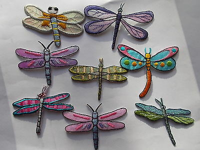 Dragonfly Embroidered Iron / Sew on Patch Applique Badge