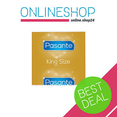 PASANTE KING SIZE CONDOMS LARGE XL XXL FOR BIG BOYS 1 - 100 pcs Sensitive Elite