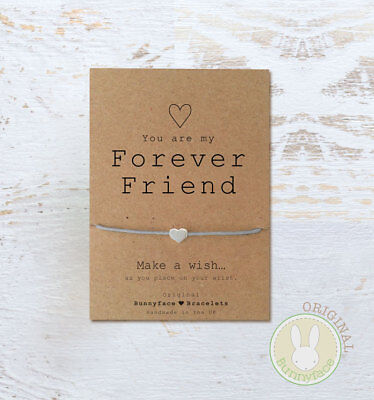 **Forever Friend Wish Bracelet**Friendship Card Gift bead best friend BFF heart