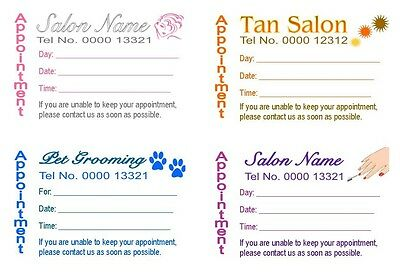 Appointment Cards 50 Designed Printing For U