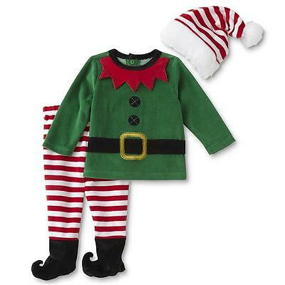 NWT Little Wonders 3-6 Months Elf Outfit Set Christmas Boy's Girl's Unisex