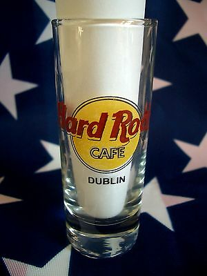HRC Hard Rock Cafe Dublin Classic Logo Black Letter Shot Glass Schnapsglas