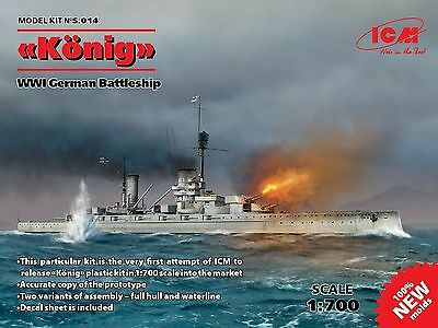 "ICM S.014 ""König"", WWI German Battleship 1/700"