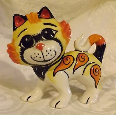 Lorna Bailey Valentine Cat ROMEO Limited Edition 14/75 Signed in Blue