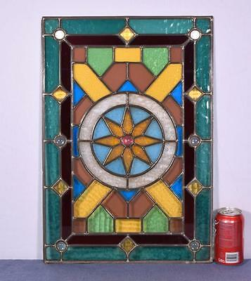 *Antique French Stained Glass Panel with Leaded Framing 2