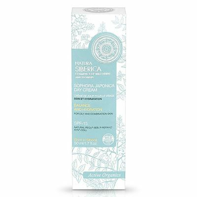 Natura Siberica Sophora Japonica Day Cream 50ml for Oily/Comb. spf15