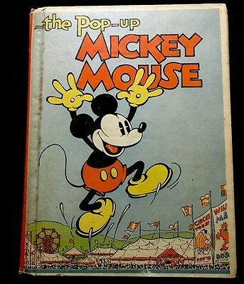 The Pop-Up Mickey Mouse 1933 Rare Platinum-Age Book BLUE RIBBON BOOKS, INC.