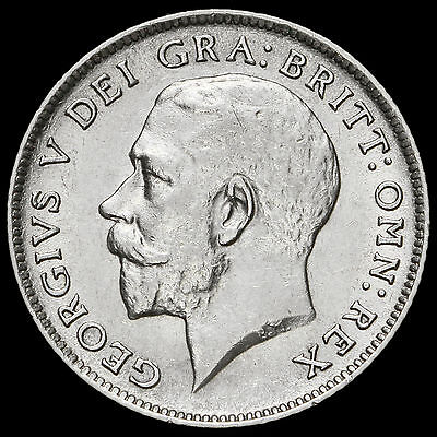 1918 George V Silver Sixpence – G/EF
