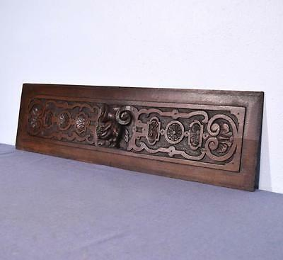 """*39"""" Large French Antique Hand Carved Panel in Solid Oak Wood Salvage"""
