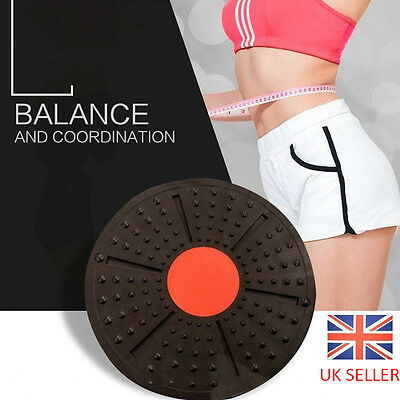 New Stability Wobble Yoga Exercise Fitness Strength Training Balance Board 37cm