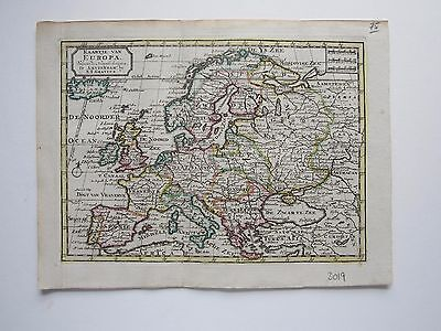 Europe  Keizer/ de Lat 1788 original antique map RARE!