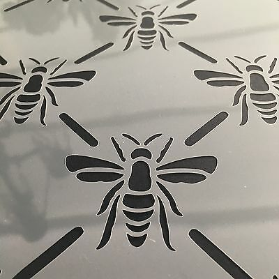 Belle Bees Stencil A4 Trellis Repeat Pattern Crafts Signs Spray Paint Wall