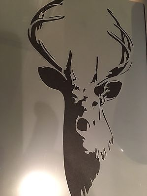 Stag A4 Stencil Shabby Chic French Wall Furniture Fabric Glass Re-usable A4