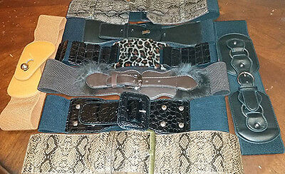 wholesale lot of 12 assorted fashion belts