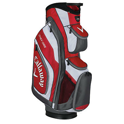 Callaway Golf Men's Cart Bag CHEV ORIG 15 red-charcoal-white incl. Accessories