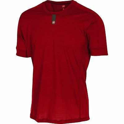 Castelli Procaccini Wool Short-Sleeve Baselayer - Men's Ruby Red S
