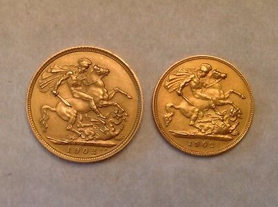 - 1902 Great Britain  Edward VII 11 Coin Gold & Silver Proof Set Cased